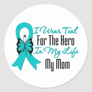 Llevo el trullo para el héroe en mi vida… mi mamá etiquetas redondas