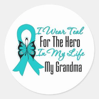 Llevo el trullo para el héroe en mi vida… mi pegatina redonda
