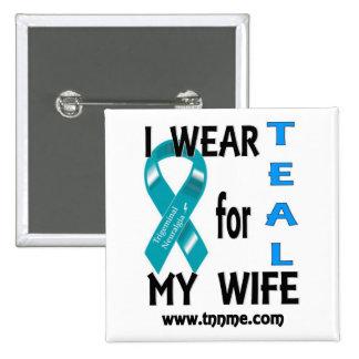 Llevo el TRULLO para mi botón de la esposa Pin Cuadrado