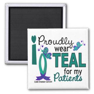 Llevo el trullo para mi cáncer ovárico de los paci imán cuadrado