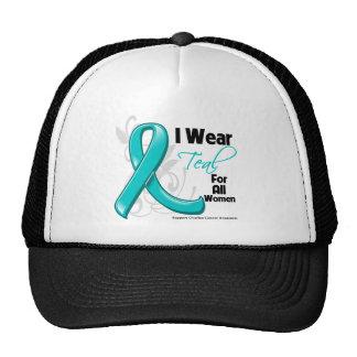 Llevo el trullo para todas las mujeres - cáncer ov gorros bordados