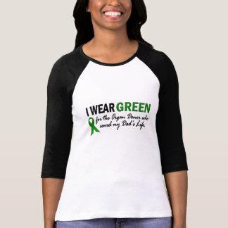 Llevo el verde para el donante de órganos 1 camisetas