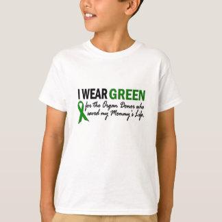 Llevo el verde para el donante de órganos 1 polera