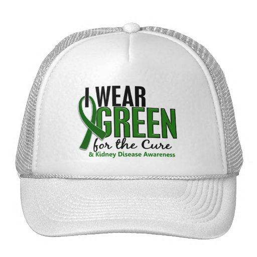 Llevo el verde para la enfermedad de riñón de la c gorro de camionero