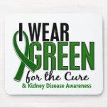 Llevo el verde para la enfermedad de riñón de la c alfombrillas de raton