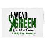 Llevo el verde para la enfermedad de riñón de la c tarjetón