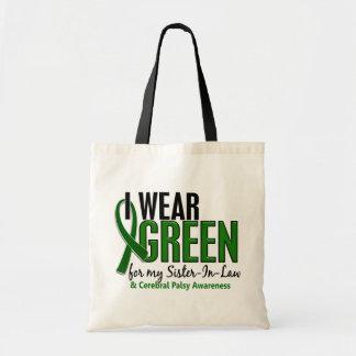 Llevo el verde para la parálisis cerebral de la cu bolsa