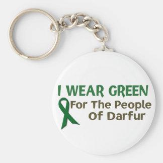 Llevo el verde para la POBLACIÓN de DARFUR Llavero Redondo Tipo Pin