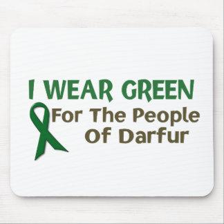 Llevo el verde para la POBLACIÓN de DARFUR Tapete De Ratón