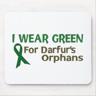 Llevo el verde para los HUÉRFANOS de DARFUR Alfombrilla De Ratón