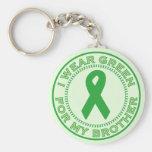 Llevo el verde para mi Brother Llaveros Personalizados