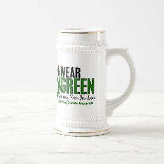 Llevo el verde para mi enfermedad de riñón del jarra de cerveza
