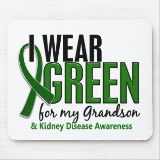 Llevo el verde para mi enfermedad de riñón del nie alfombrillas de raton