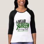 Llevo el verde para mi enfermedad de riñón del pap camiseta