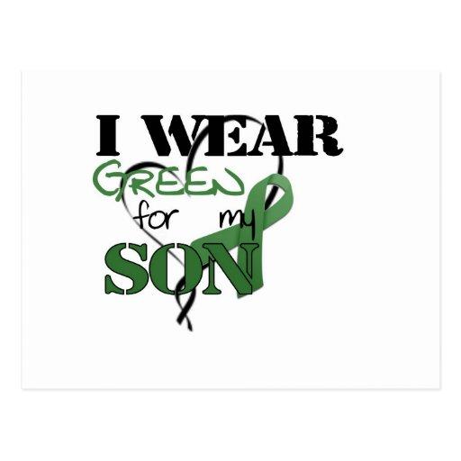 Llevo el verde para mi hijo postal