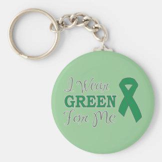 Llevo el verde para mí (la cinta verde de la conci llavero redondo tipo pin