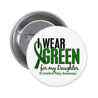 Llevo el verde para mi parálisis cerebral de la hi pin redondo 5 cm