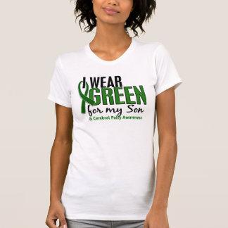 Llevo el verde para mi parálisis cerebral del hijo camiseta