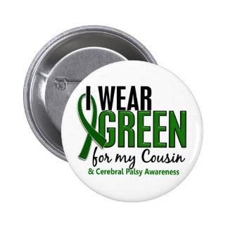 Llevo el verde para mi parálisis cerebral del prim pin redondo 5 cm
