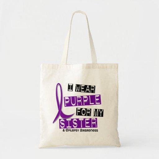 Llevo epilepsia púrpura de la hermana bolsa de mano