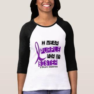 Llevo epilepsia púrpura de la hermana playeras