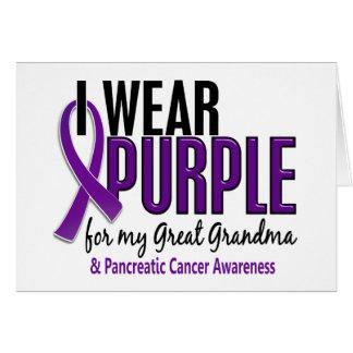 Llevo grandes al cáncer pancreático de la abuela 1 felicitación