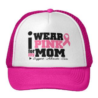 Llevo la ayuda rosada de la cinta para mi mamá gorras de camionero