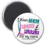 Llevo la cinta de la tiroides para mi Nana 37 Imanes De Nevera
