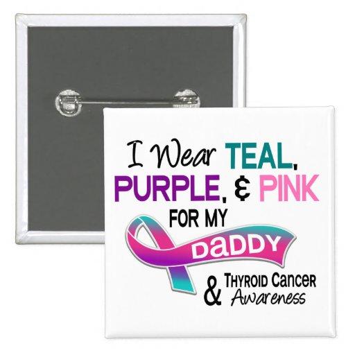 Llevo la cinta de la tiroides para mi papá pins