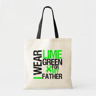 Llevo la cinta de la verde lima para mi linfoma de bolsa lienzo