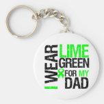 Llevo la cinta de la verde lima para mi linfoma de llavero personalizado