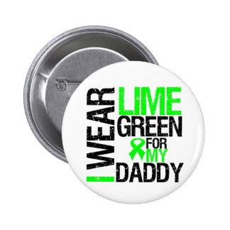 Llevo la cinta de la verde lima para mi linfoma pin redondo de 2 pulgadas