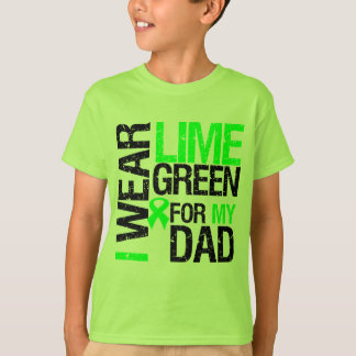 Llevo la cinta de la verde lima para mi linfoma playera