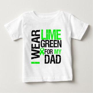Llevo la cinta de la verde lima para mi linfoma playera de bebé