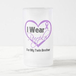 Llevo la cinta de Purple Heart - Brother gemelo Tazas De Café