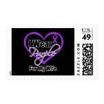 Llevo la cinta de Purple Heart - esposa Sellos