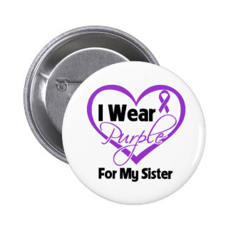 Llevo la cinta de Purple Heart - hermana Pin