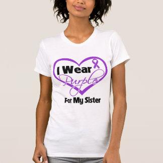Llevo la cinta de Purple Heart - hermana Playera