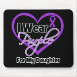 Llevo la cinta de Purple Heart - hija Tapetes De Ratones