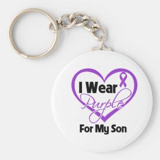 Llevo la cinta de Purple Heart - hijo Llaveros
