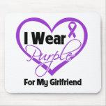 Llevo la cinta de Purple Heart - novia Alfombrillas De Ratones