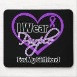 Llevo la cinta de Purple Heart - novia Alfombrillas De Raton