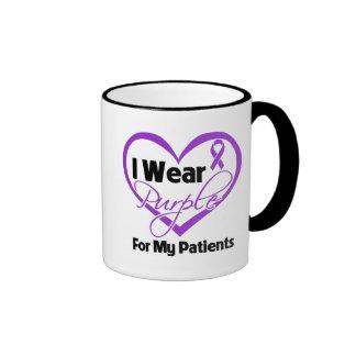 Llevo la cinta de Purple Heart - pacientes Tazas