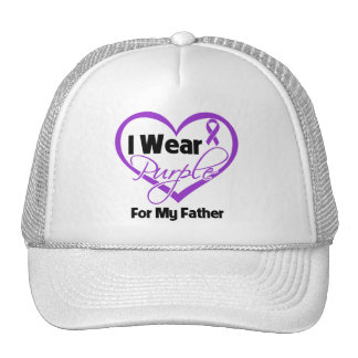 Llevo la cinta de Purple Heart - padre Gorra