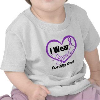 Llevo la cinta de Purple Heart - papá Camisetas