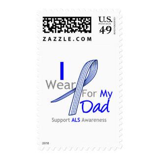 Llevo la cinta del ALS para mi papá Sello