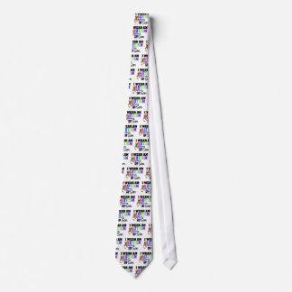 Llevo la cinta del autismo para mi hijo corbata