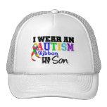 Llevo la cinta del autismo para mi hijo gorro de camionero
