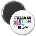 Llevo la cinta del autismo para mi hijo imán de frigorifico