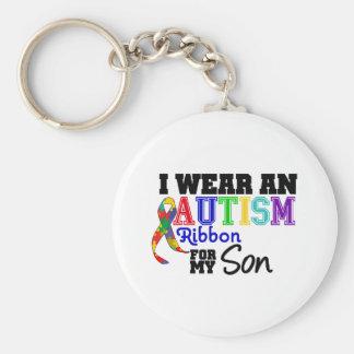 Llevo la cinta del autismo para mi hijo llavero personalizado